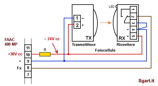 Schema Elettrico Nice Mca2 : Sostituire le fotocellule del cancello automatico