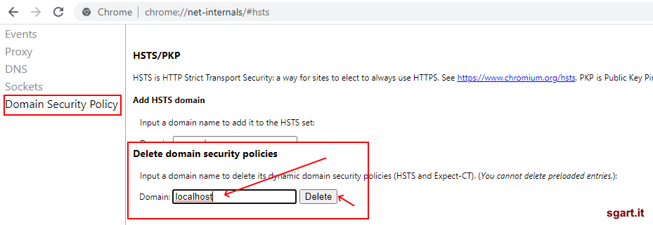 Domain Security Policy